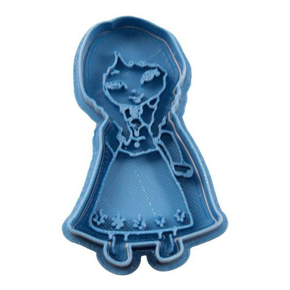 cortador de galletas anna princesa chibi frozen