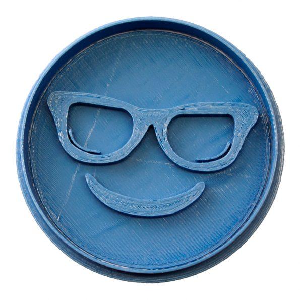 cortador de galletas emoji gafas