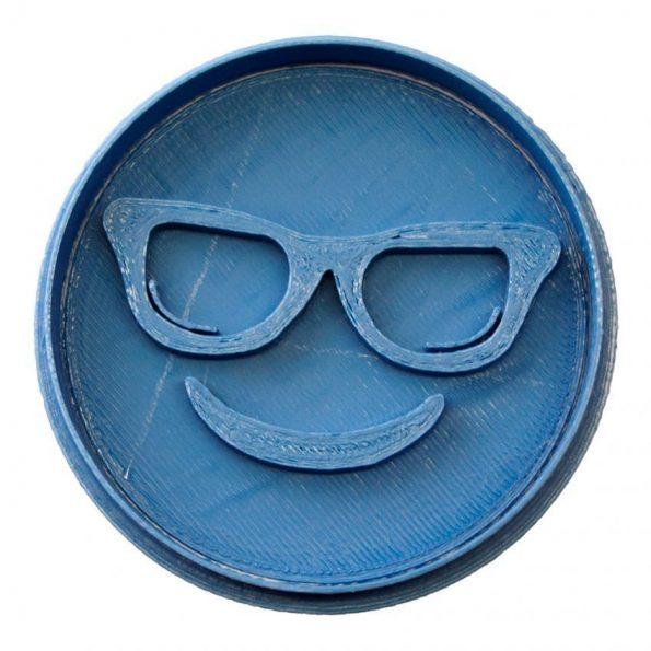 cortador de galletas emoticono gafas