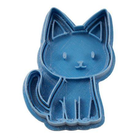 cortador de galletas dibujo gato