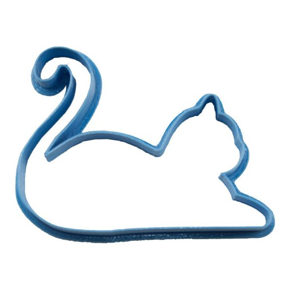 cortador de galletas en forma de gato