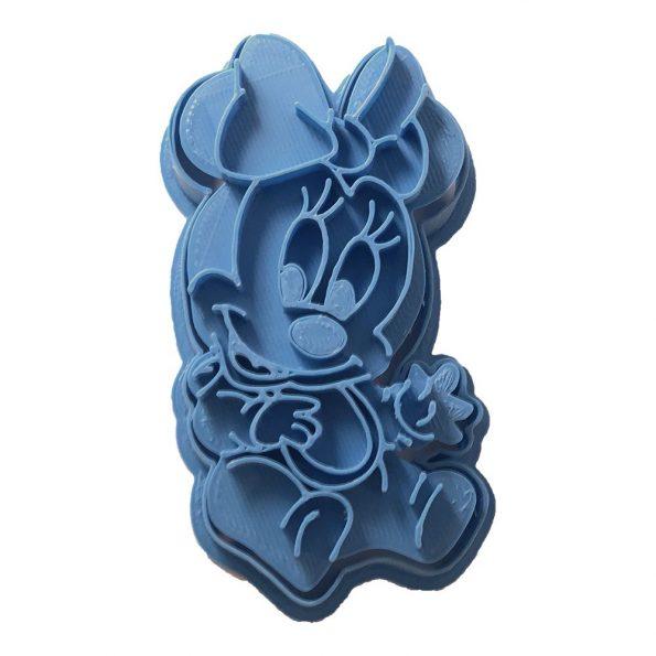 cortador de galletas minnie mouse bebe