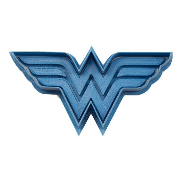 cortador de galletas wonder woman logo