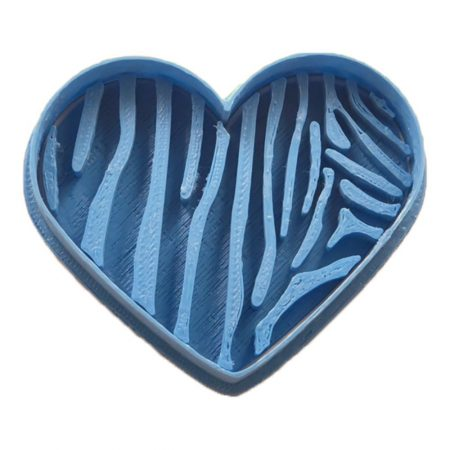 cortador de galletas corazon cebra