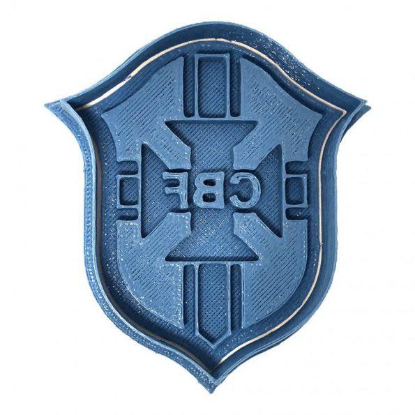 escudo Brasil cortador de galletas