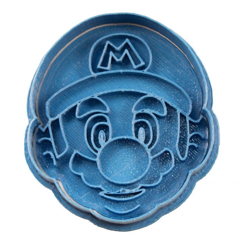 Cuticuter Mario Bros Face Cookie Cutter Cortador de Galletas Mario Bros Cara
