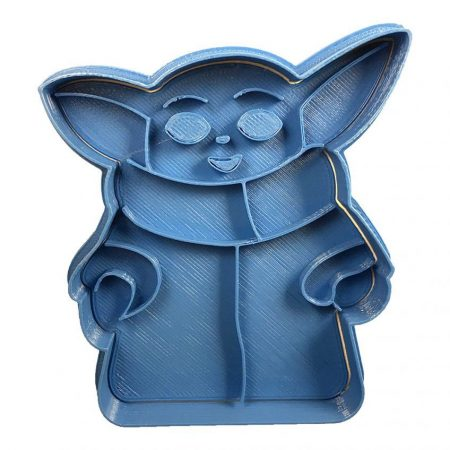 cortador de galletas baby yoda entero star wars