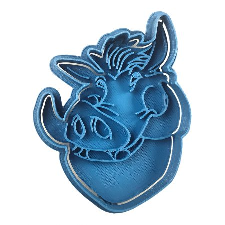 pumba's face the lion king cookie cutter