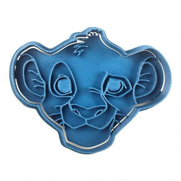 cortador de galletas simba cara el rey leon